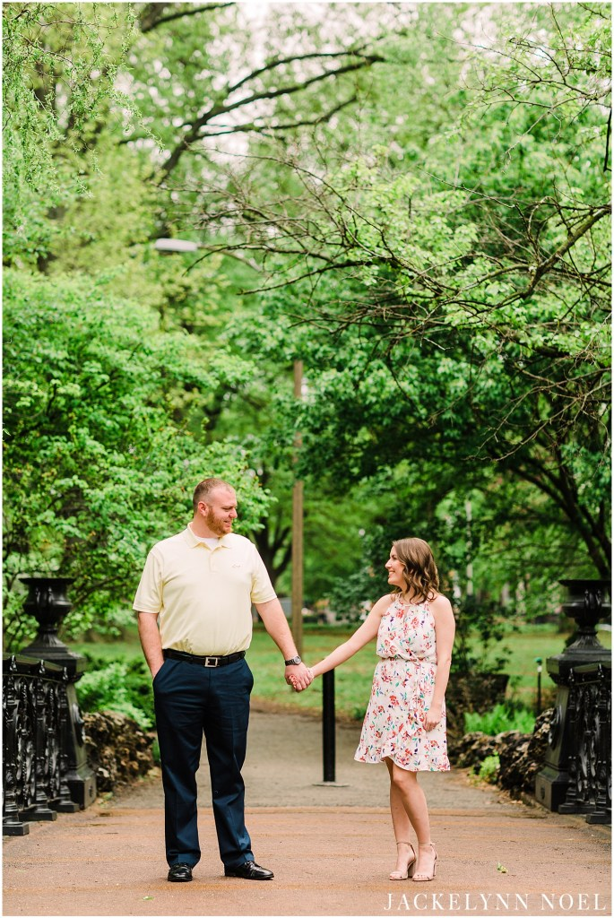 Lafayette Park Downtown StLouis Engagement by Jackelynn Noel Photography