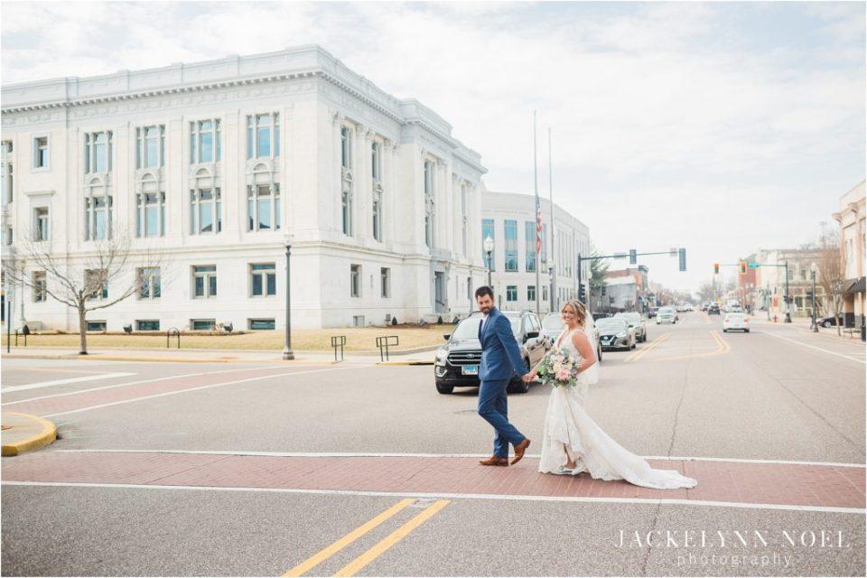 St. Louis Wedding Photographer, Jackelynn Noel Photography photographs Amanda and Matt's wedding at the Sanctuary on Main in Troy, Illinois