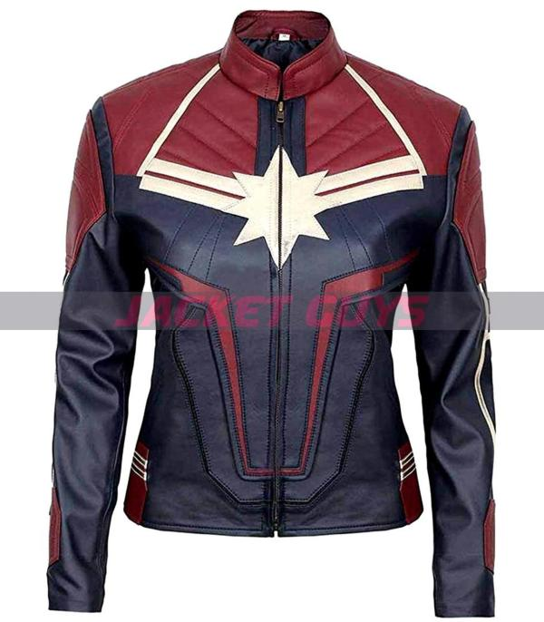 women captain carol danvers leather jacket get now