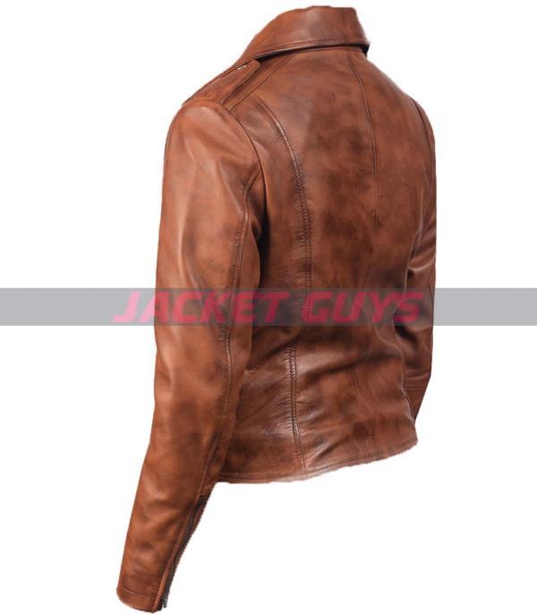 women brown biker jacket for sale