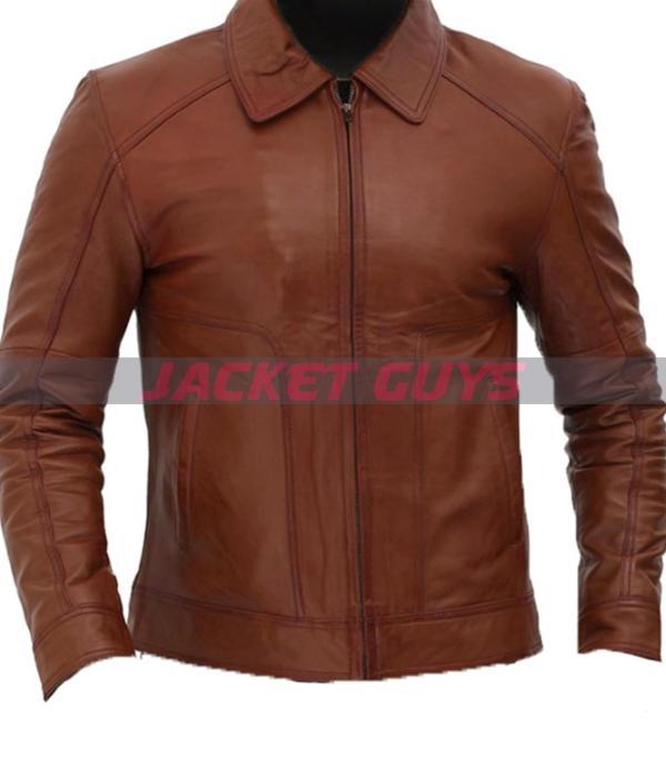 for sale men's brown biker leather jacket