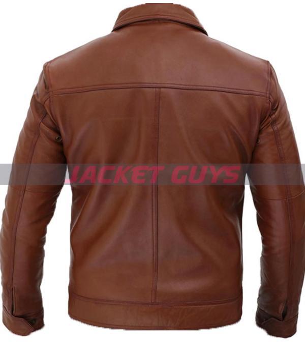 buy now men's brown biker leather jacket