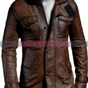 buy now brown leather jacket