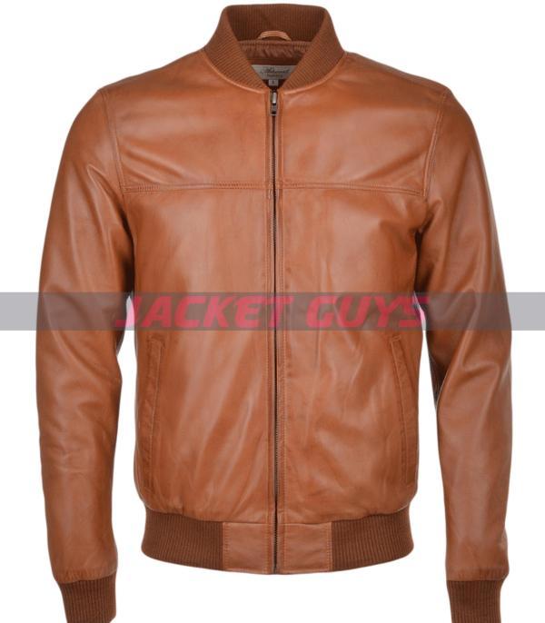 purchase now men light brown biker leather jacket