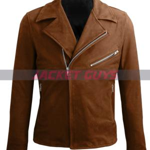 get now men suede leather jacket