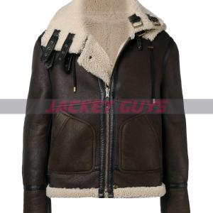 for sale men shearling lamb leather jacket