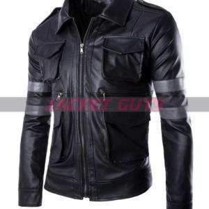 get now resident evil 6 leather jacket