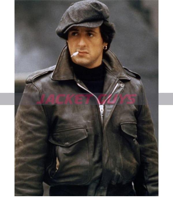 buy now sylvester stallone leather jacket