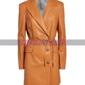 on sale trench leather coat