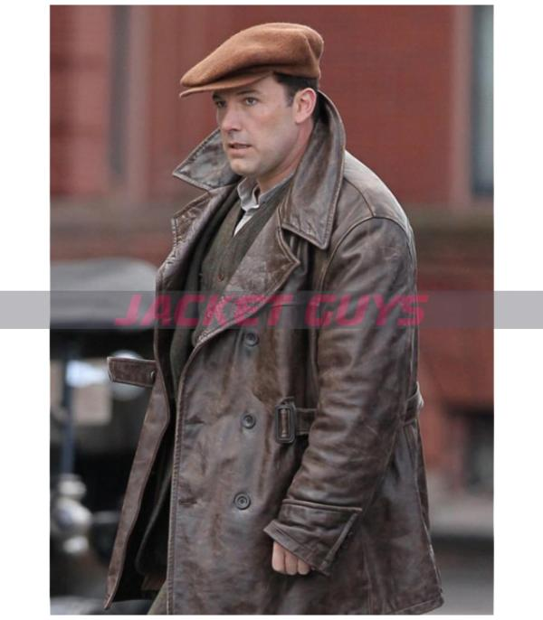 buy now ben affleck vintage brown waxed real leather
