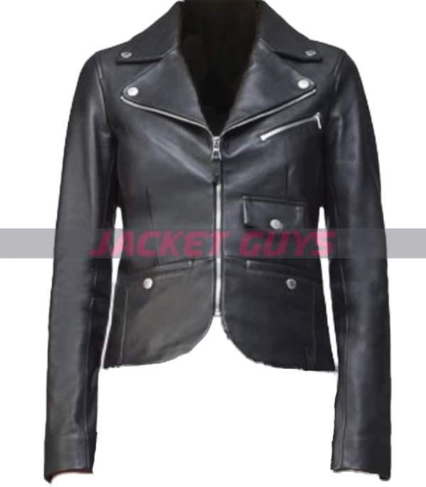 get now womens blazer leather jacket