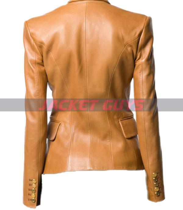 purchase now women brown leather blazer