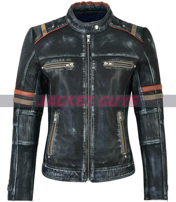 buy now ladies distress leather jacket