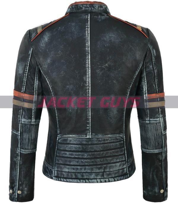on sale buy now ladies distress leather jacket