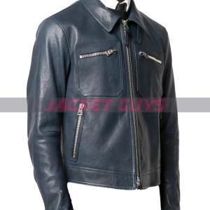 on sale mens dressy with tie leather jacket