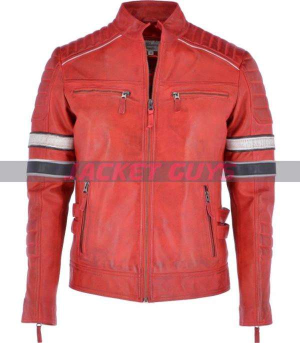 men red leather jacket buy now
