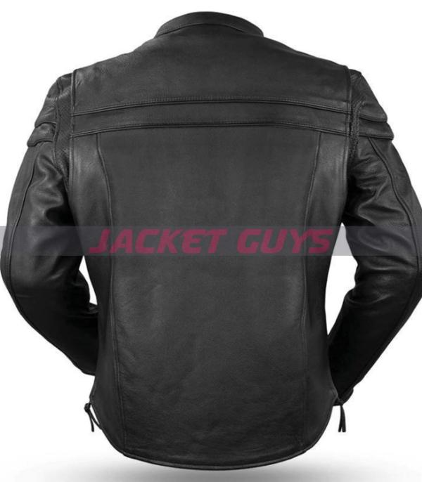 get now mens armoured leather jacket