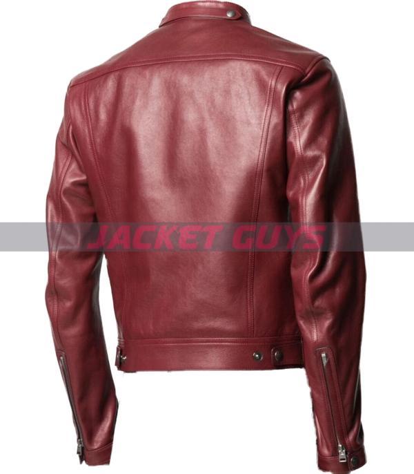 for sale mens burgundy leather jacket