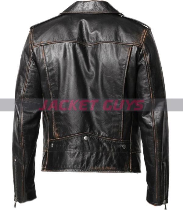 for sale mens distress biker leather jacket