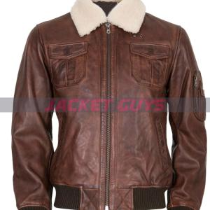 mens sherpa leather jacket on sale