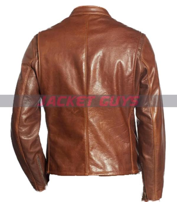 mens brown leather jacket for sale