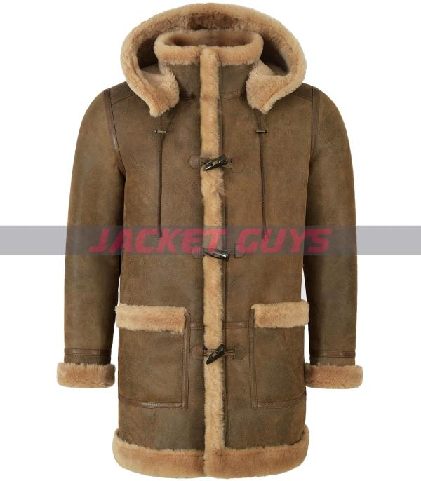 mens leather winter coat on sale
