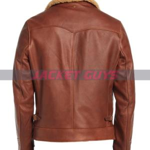 get now men's shearling leather jacket