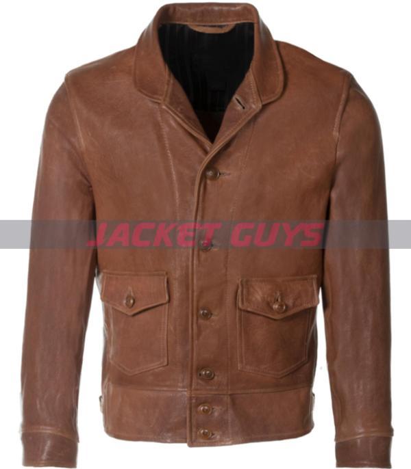 buy now trucker mens leather jacket