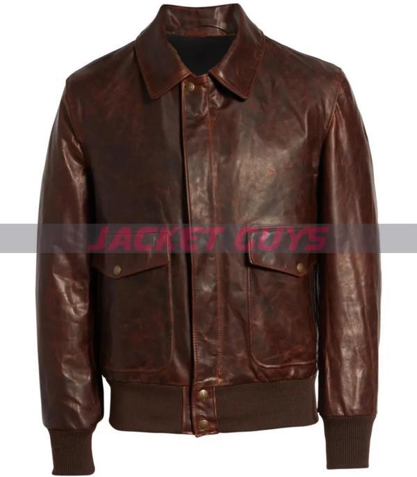 get now mens vintaged leather jacket