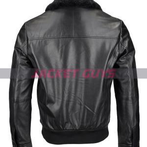 men black shearling leather jacket on sale