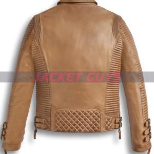 buy now men brown distress leather jacket