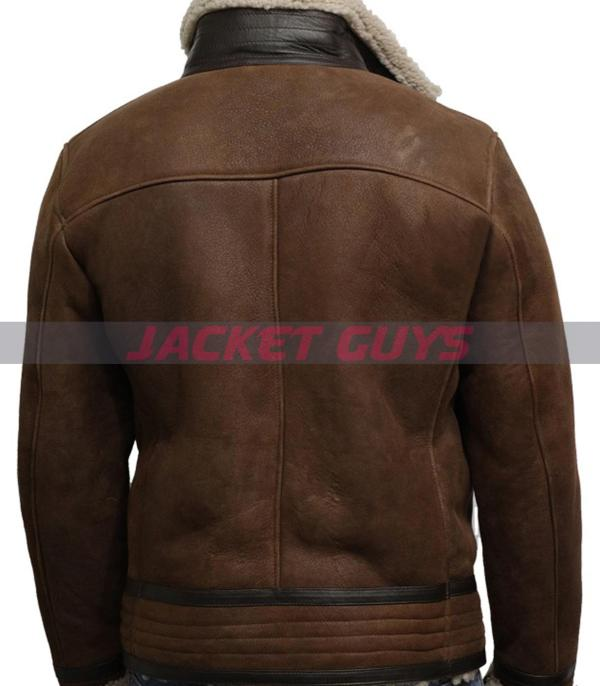 purchase now men brown fur leather coat