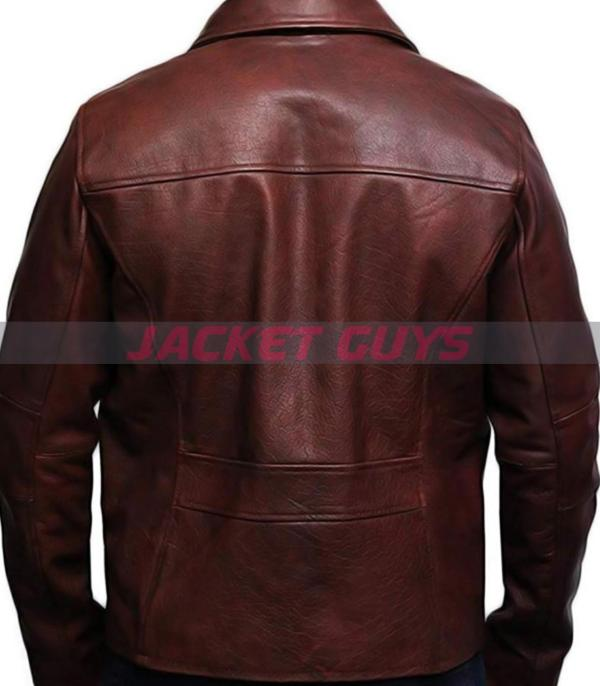 buy now men brown red leather jacket