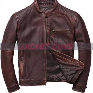 buy now men's cowhide leather jacket