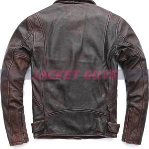 men' distress cowhide leather jacket get now