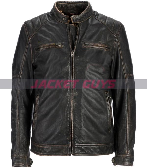men moto racer leather jacket on sale