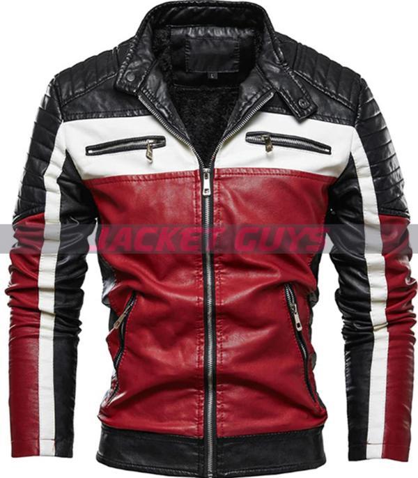 buy now multi color biker jacket on sale