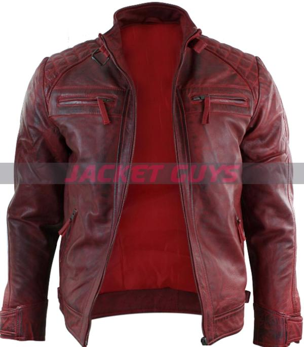 purchase now men red distressed leather jacket
