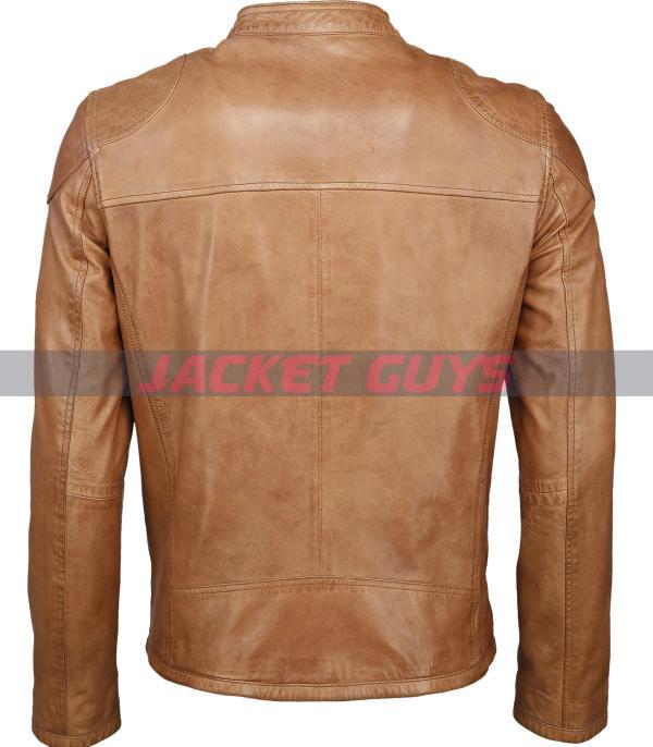 shop now men tan brown distress leather jacket