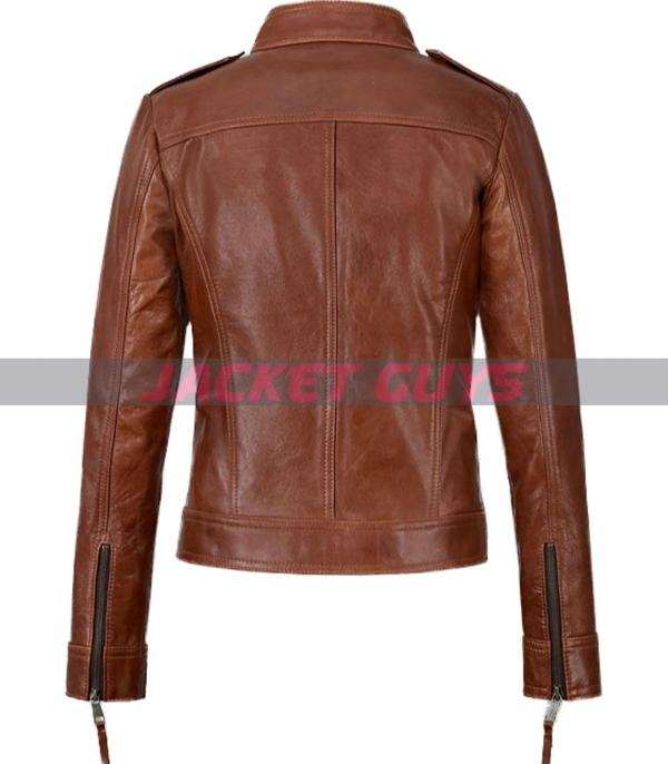 jennifer morrison brown leather jacket purchase now