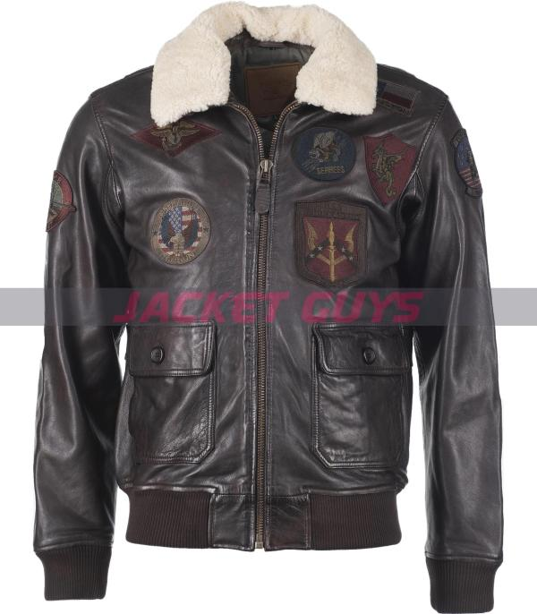 mens aviator leather jacket buy now