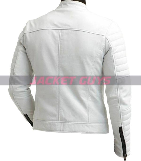 mens white leather jacket on discount