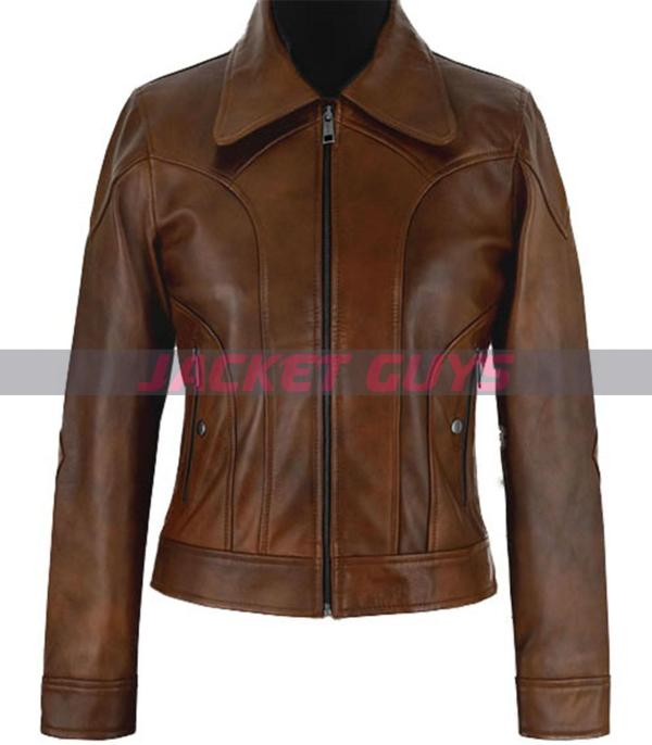 selena gomez brown leather jacket purchase now