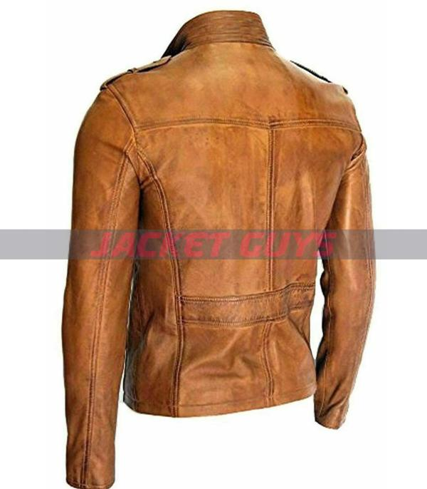 for sale mens trucker leather jacket