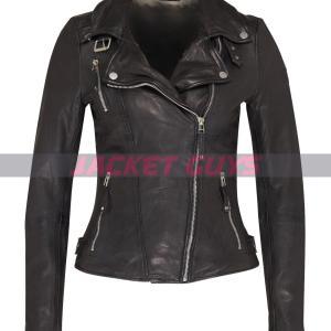 women black leather jacket buy now