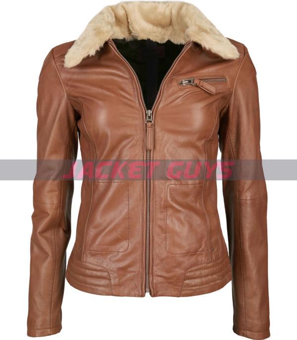 tan brown aviator womens jacket on sale