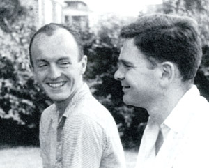 Frank O'Hara (left) and James Schuyler,