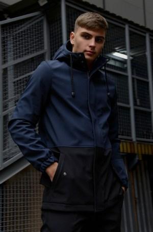 Куртка мужская хаки черная демисезонная Citizen на флисе (Украина)
