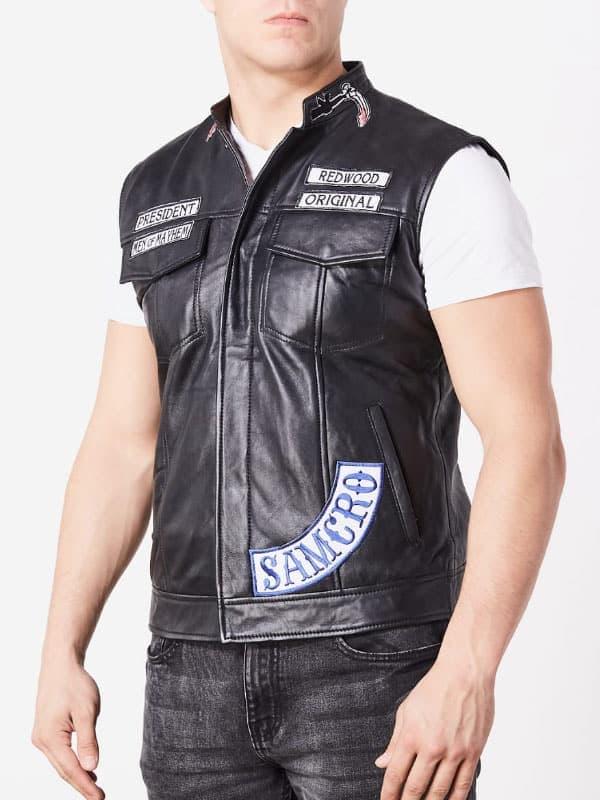 soa samcro leather vest