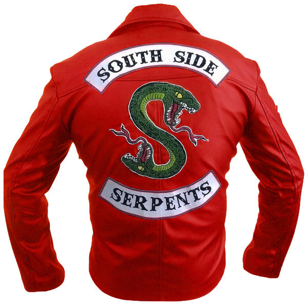 Womens Red Southside Serpents Leather Jacket